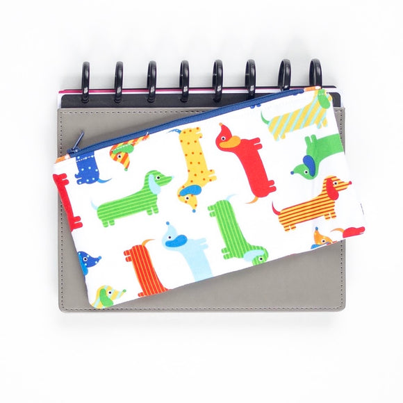 Deluxe Pen Pouch: Colorful Dogs