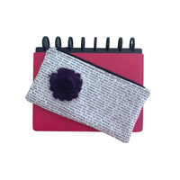Deluxe Pen Pouch - Printed with Navy Flower