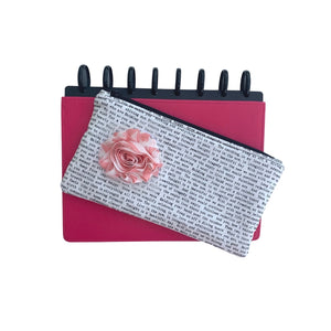 Deluxe Pen Pouch - Printed with Peach Flower