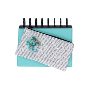 Deluxe Pen Pouch - Printed with Aqua Flower