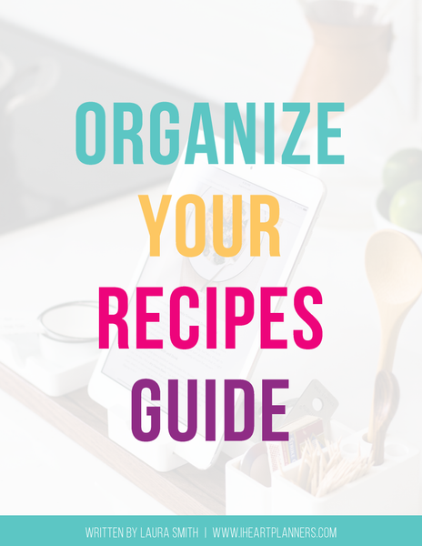 How to Organize Your Recipes Guide