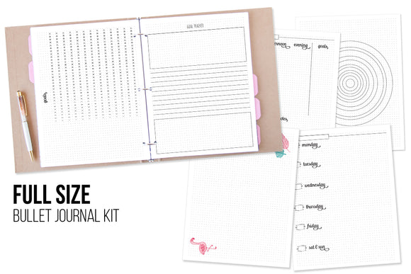 Bullet Journal Printable Kit - Full Size