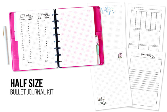 Bullet Journal Printable Kit - Half Size