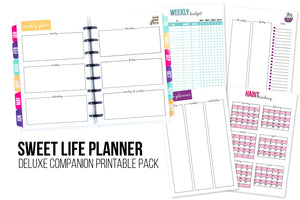 Deluxe Sweet Life Planner Companion Printable Pack
