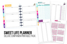 Load image into Gallery viewer, Deluxe Sweet Life Planner Printable Pack