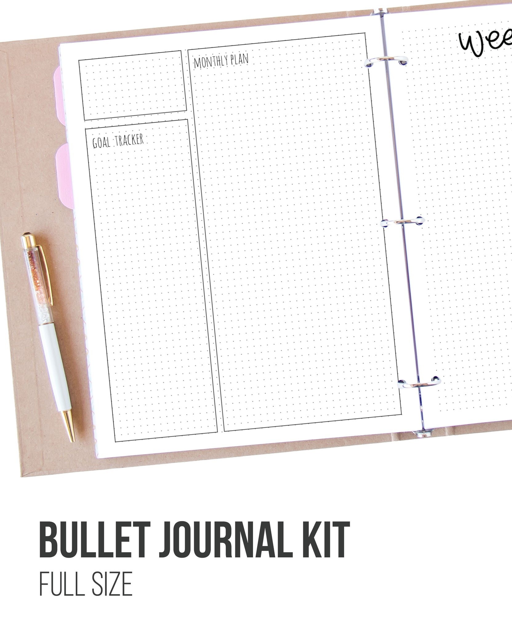 photo about Bullet Journal Printable called Bullet Magazine Printable Package - Entire Dimensions Lovable Existence Planners
