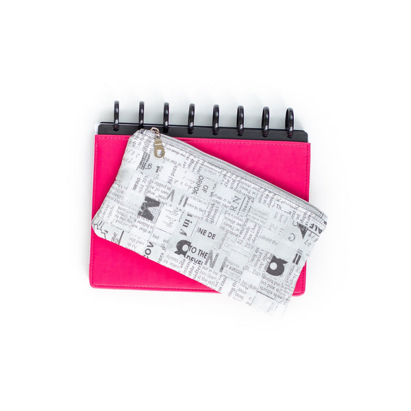 Deluxe Pen Pouch - Gray Text