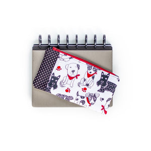 Deluxe Pen Pouch - Dog Black & White