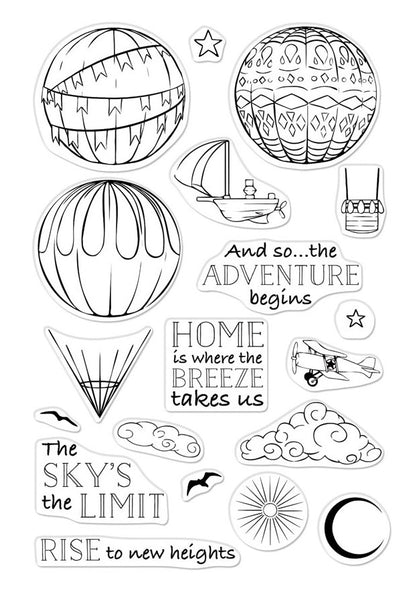 SKY'S THE LIMIT BALLOONS CM325- Hero Arts