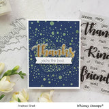Speckled Heart Stencil-Whimsy Stamps