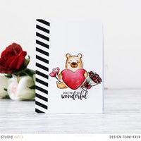 Kobi's Hugs & Kisses | Clear Stamp Set  - Studio Katia