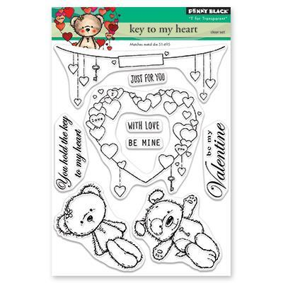Key to my Heart - Penny Black Stamps