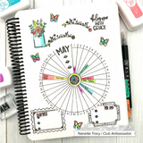 Circle Tracker and Banners Stencil - Catherine Pooler