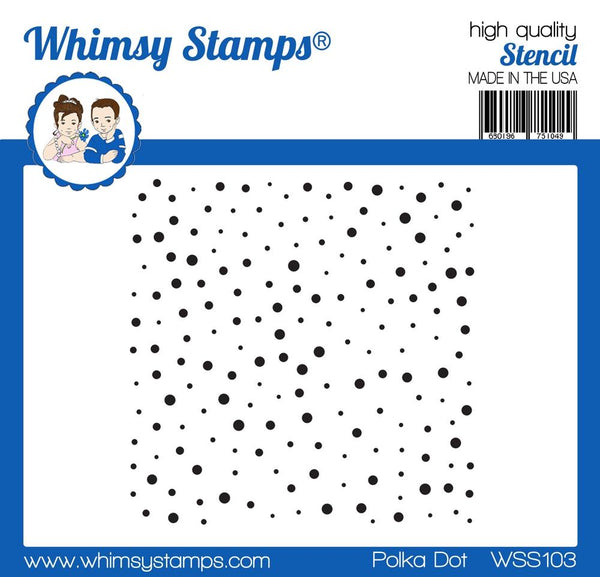 Polka Dot Stencil -Whimsy Stamps