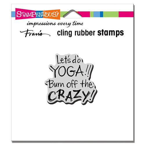 Yoga Crazy Cling Mounted Rubber Stamp - Stampendous CRD192