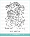 STKS024 - You're So Ranunculus | Clear Stamp Set - Studio Katia