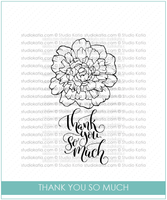 Thank You So Much | Clear Stamp Set - Studio Katia