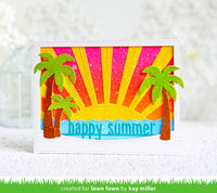 happy summer line border- Lawn Fawn