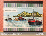 Boat Harbor - Whimsy Stamps