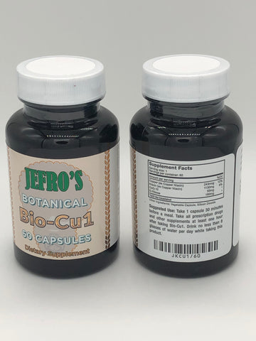 SAVE ON TWO BOTTLES of Bio-Cu1 Capsules for Just $129.95