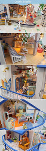 Hoomeda Legend Of The Blue Sea DIY Dollhouse Miniature Model With Lights and Music different angles
