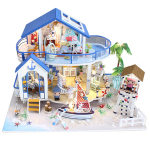 Hoomeda Legend Of The Blue Sea DIY Dollhouse Miniature Model With Lights and Music