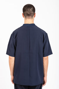 Blocked Line T-Shirt - Dark Navy