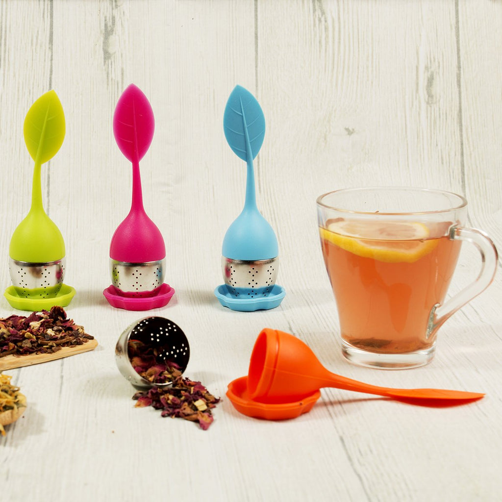 Silicone and Stainless Steel Leaf Tea Strainer