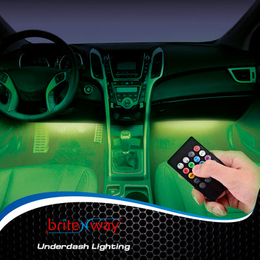 Car Interior Lights - 7 Colors and Multiple Patterns for Front & Back Underdash Decoration Lighting