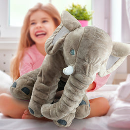"Giant 24"" Stuffed Elephant Toy - Cute Soft Plush Cuddly Fabric Pillow"