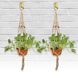 Indoor & Outdoor Decorative Flower & Plant Round & Square Pot Handmade Hanger - 4 Legs 40""