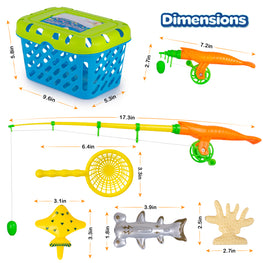 Magnetic Fishing Game, Kids Bath water Pool Toys for Toddlers, 47 pcs, Fish Toy Set  ,Poles and Reels, 4 Catching NetsCatching Nets, 50 Floating Fishes for, Kids Toys for Table, Bathtub, Pool, Floor