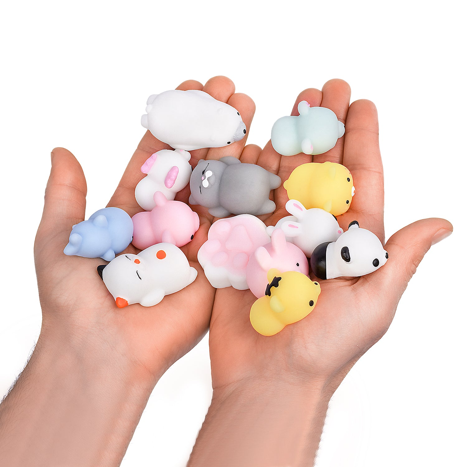 Adorable Mini Squishies Gift Set for Kids & Adults | Soft & Super-Cute Animal Squishy Toys | Colorful Kawaii Squishies for Stress & Anxiety Relief | Improve Focus & Productivity | 20 Pcs
