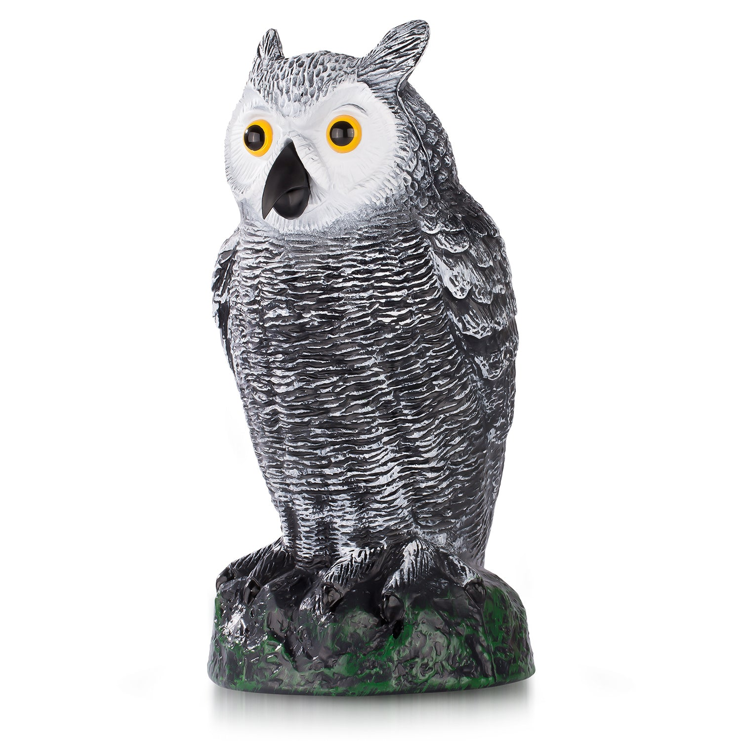 "Ultimate Scarecrow 10,5"" Owl Decoy Statue - Hand-Painted Garden Protector"