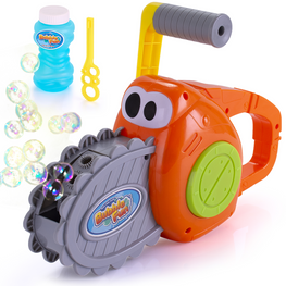 Kids Outdoor Bubble Gun for Kids and Toddlers, Chainsaw Bubble Blower Machine, 500 Bubbles per Minute.