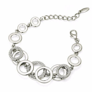 Ronux jewel women elegant double layer round bracelet in silver, , trendy Double Layer Chain Bracelet