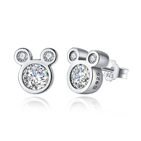 Ronux jewel sterling silver Mickey mouse Stud Earrings for girls and women, Disney accessories