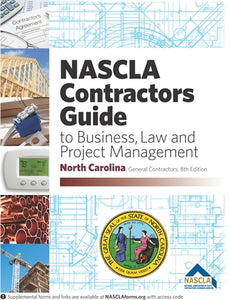NORTH CAROLINA-NASCLA Contractors Guide to Business, Law and Project Management North Carolina General, 8th Edition Book plus tabs