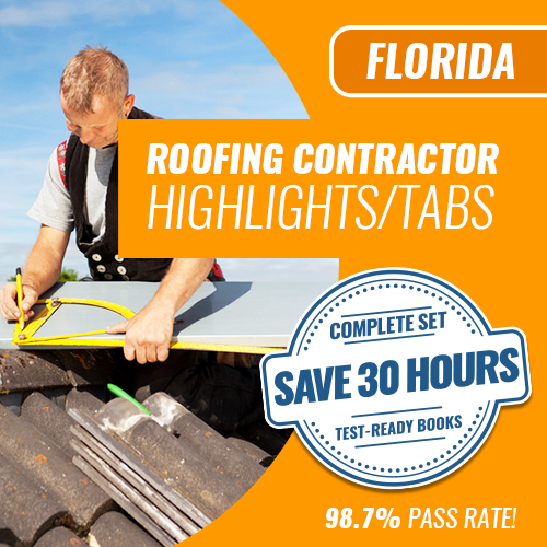 Florida Roofing Contractor Exam Book Set Highlighted and Tabbed