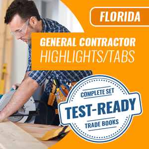 Florida General Contractor Highlighted and Tabbed Complete Book Set