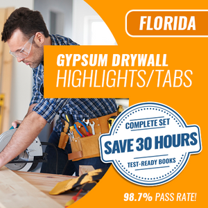 Florida Gypsum Drywall Highlighted and Tabbed Complete Book Set