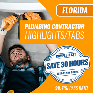 Florida Plumbing Contractor Complete Book Set  of Trade Books - Highlighted & Tabbed