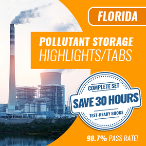 Florida Pollutant Storage Contractor Exam Complete Book Set - Trade Books - Highlighted & Tabbed