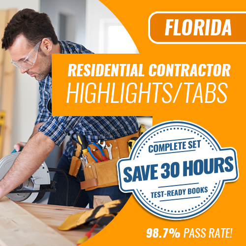 Florida Residential Contractor Highlighted and Tabbed Complete Book Set
