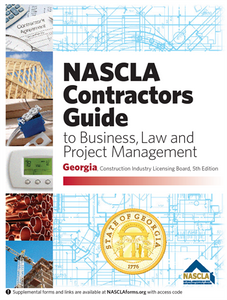 Georgia NASCLA Contractors Guide to Business, Law and Project Management, Georgia Construction Industry Licensing Board 5th Edition; Highlighted & Tabbed