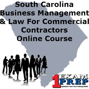 South Carolina PSI Business Management and Law for Commercial Contractors