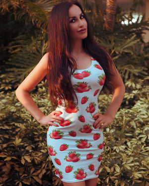 Strawberry Turquoise Dress - vegan-styles