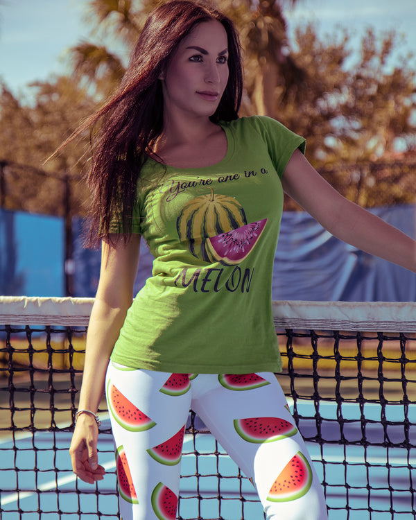 """ You're One In a Melon"" Ladies' Scoopneck T-Shirt - vegan-styles"