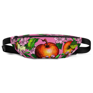 """ Apples"" Pink Fanny Pack - vegan-styles"