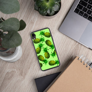 '' Green pineapples'' iPhone Case - vegan-styles